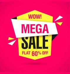 wow mega sale banner vector image