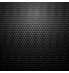 Metallic perforated texture dark carbon pattern vector