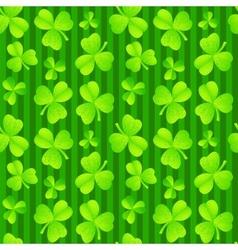 Green clover seamless background vector