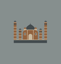 Taj mahal temple indian pagoda vector