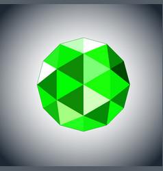 emerald gem jewel icon vector image