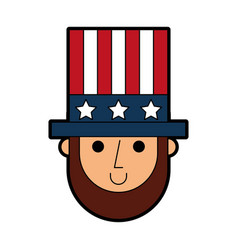 abraham lincoln with hat comic character vector image