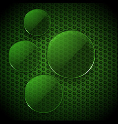 Green glass circles info graphic blank vector