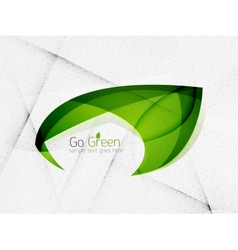 Green eco unusual background concept vector