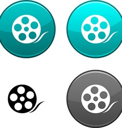 Media button vector