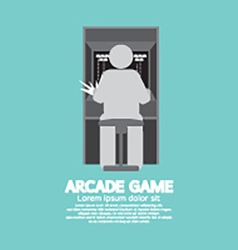 Arcade machine player graphic symbol vector