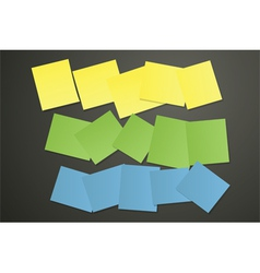 Sticky papers on black vector