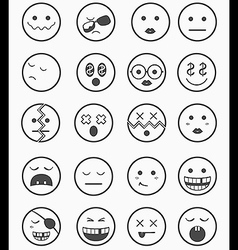 20 characters icons set 2 vector