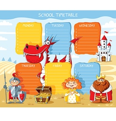 School timetable kingdom vector