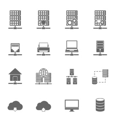 Server hosting icons vector