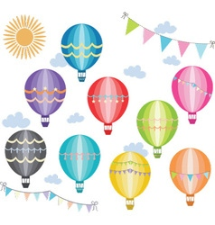 Hot air balloon collection vector