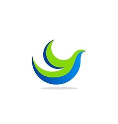 Bird fly logo vector