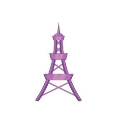 Eiffel tower icon in cartoon style vector