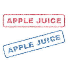 Apple juice textile stamps vector