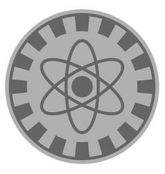 Atom silver casino chip vector
