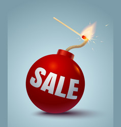 bomb for sale vector image