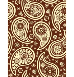 brown paisley background vector image vector image