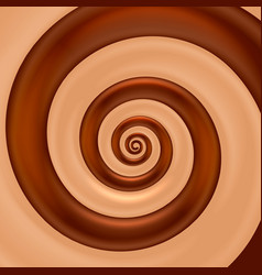 chocolate mix spiral color vector image