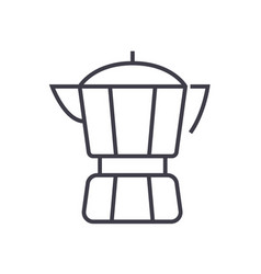 coffee maker line icon sign vector image vector image