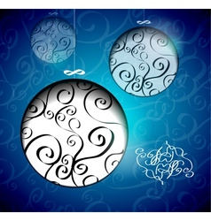 Creative Christmas balls with calligraphic vector image