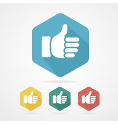 Cursor thumb up like good social vector image vector image