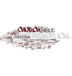 Evangelical word cloud concept vector
