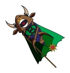Fireworks bull with angry facial expression vector