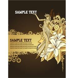 grunge floral background vector image