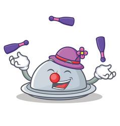 Juggling tray character cartoon style vector