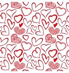 Love heart seamless pattern vector image