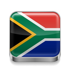 Metal icon of south africa vector