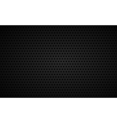 Perforated black metallic background vector image vector image
