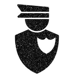 Policeman grainy texture icon vector