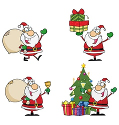 Santa Claus Cartoon Characters vector image vector image