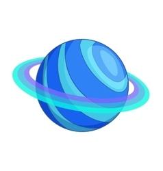 Saturn planet icon cartoon style vector
