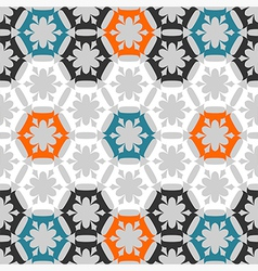 Seamless stylized floral pattern vector