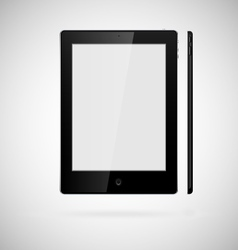 tablet on white background vector image vector image