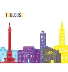 Toulouse skyline pop vector image vector image