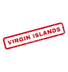 Virgin islands rubber stamp vector