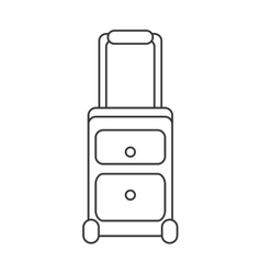 Travel suitcase with wheels icon vector