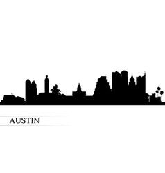 Austin city skyline silhouette background vector