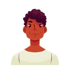 Young african man face neutral facial expression vector