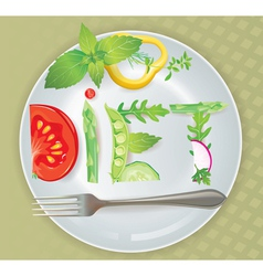 Diet vector image