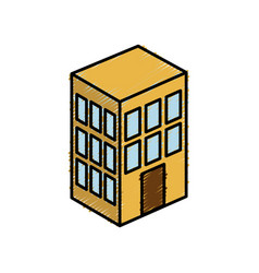 Apartments building icon vector