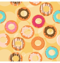 Seamless donuts background vector