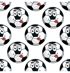 Goofy soccer ball seamless pattern vector image