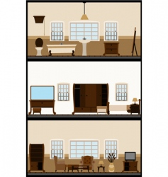 Vintage living room vector