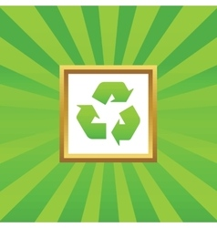 Recycle picture icon vector