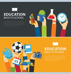 Education and back to school banner concept vector