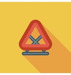 Warning triangle single icon vector
